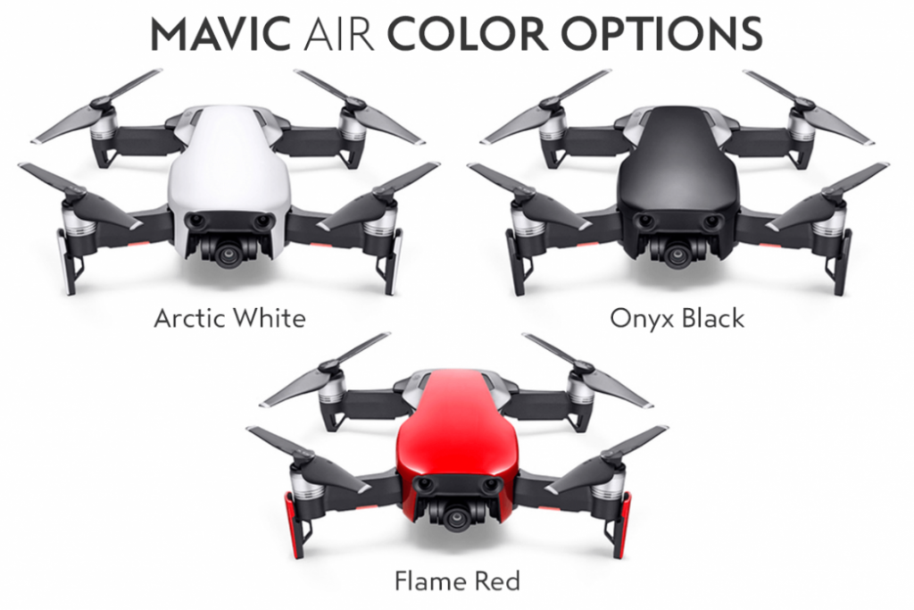 Colores disponibles mavic air