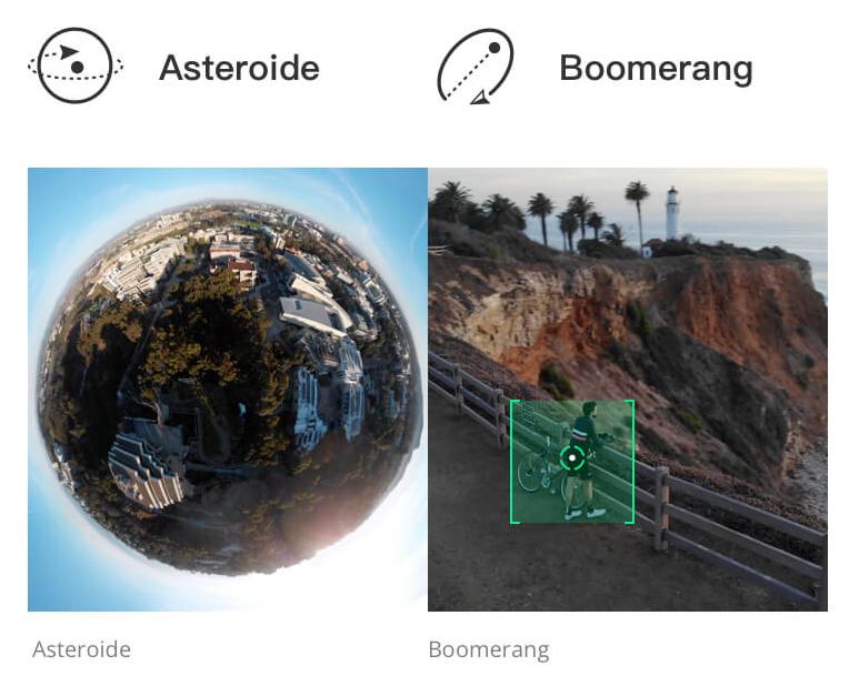 Modos Asteroide y Boomerang