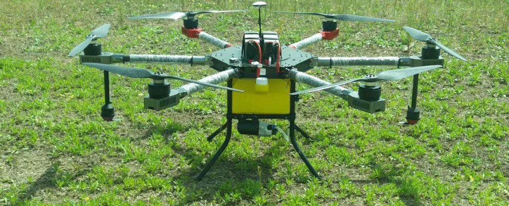 Drone para agricultura JV 10-606, ejemplo de drone con muchos rotores